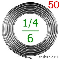 1/4'-50 Труба алюминиевая 6.35мм (толщ.1мм) 50м